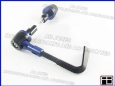FRONT BRAKE LEVER PROTECTOR AND BAR END BLUE TRACK DAY, RACE, STREETBIKE